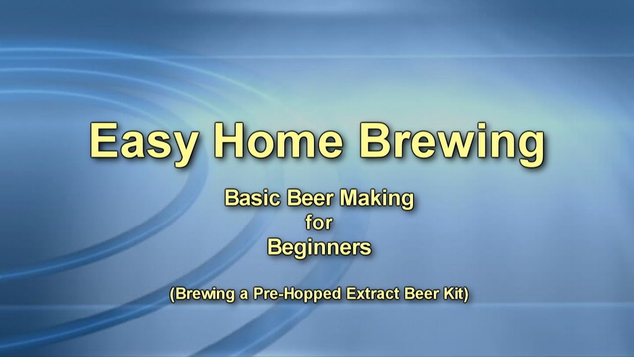 beginners guide to home brew beer