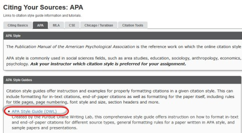 apa reference guide website