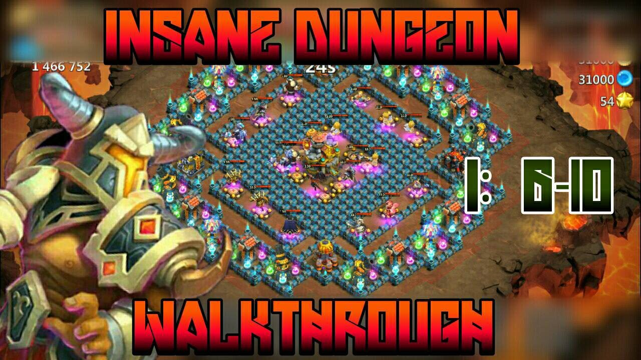 castle clash insane dungeon 6 guide