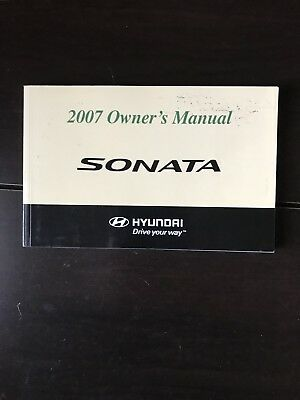 2007 hyundai sonata owners manual