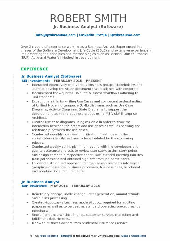 business analyst pdf