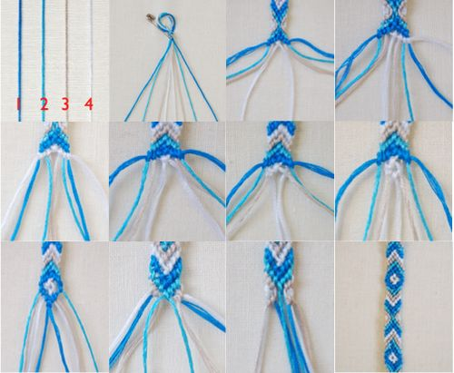 diamond friendship bracelet instructions