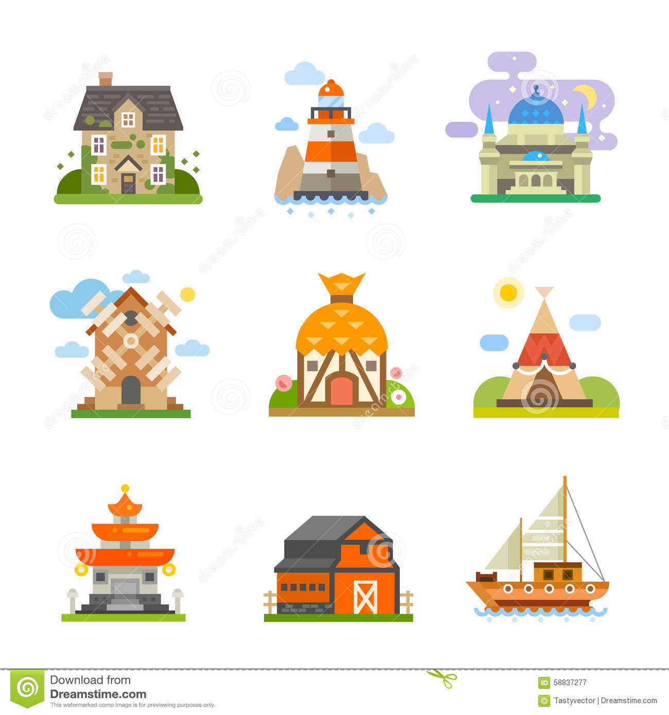 different types of houses for school project pdf