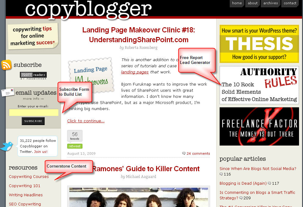 blogger sample blogs